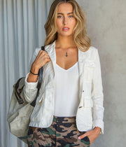 Cambre Jacket in White Sand