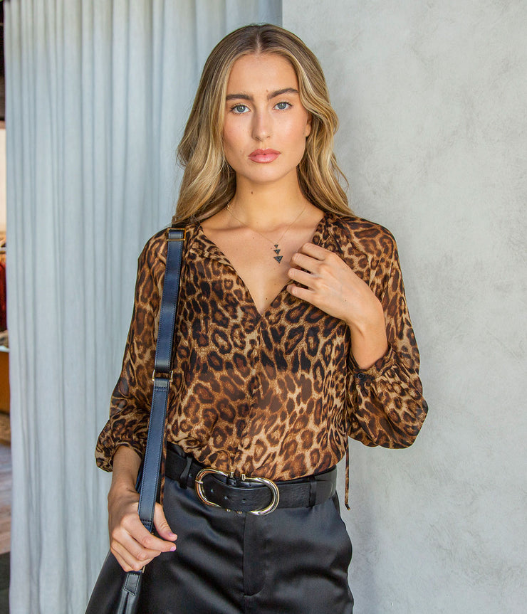 Rosette Top in Leopard