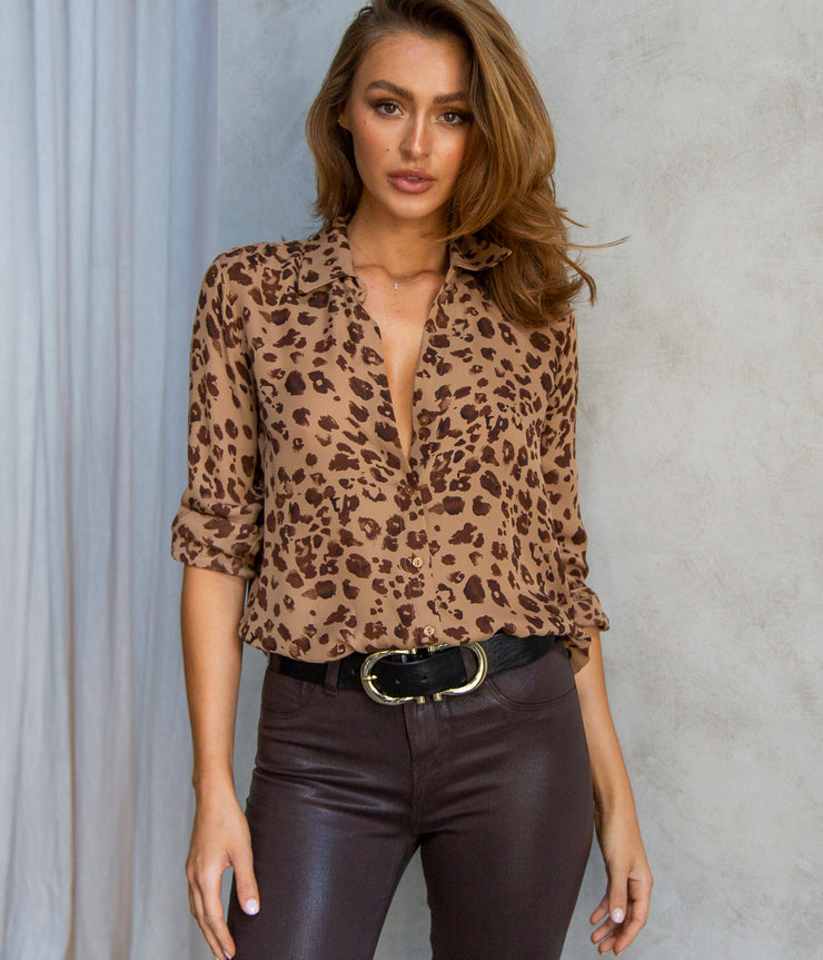 Nina L/S Blouse in Burnette Maja