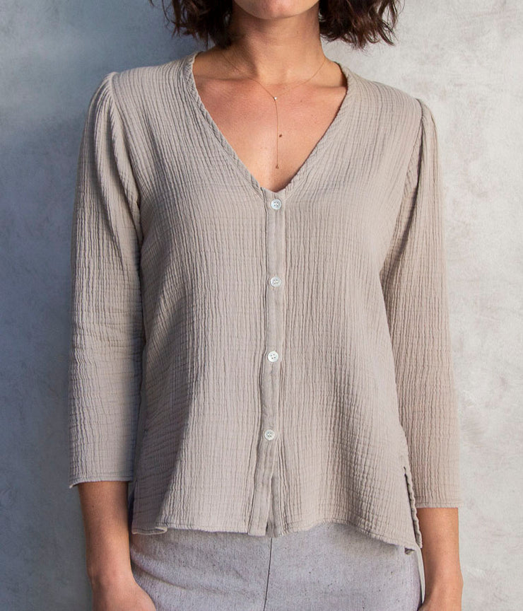 Country Blouse in Sand