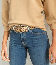 Silver Nicky Belt in Horsy Leopard