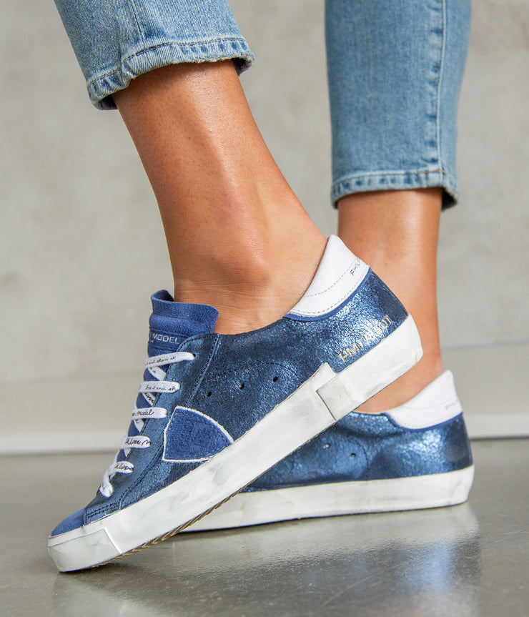 Paris LD Sneakers in Metal Mixage Blue