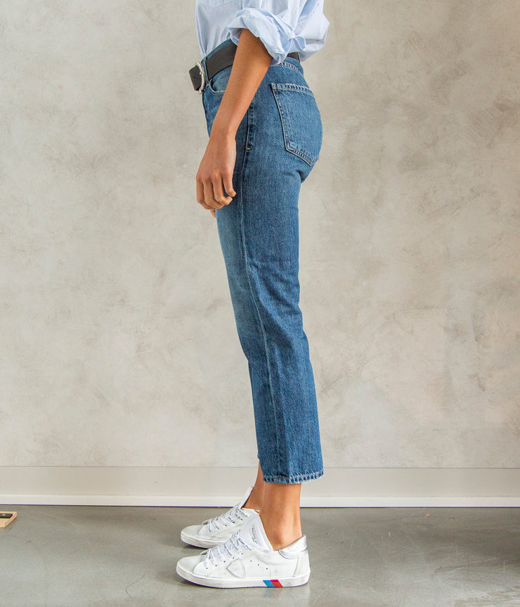 Emery High Rise Relaxed Crop Jeans in Blue Rose