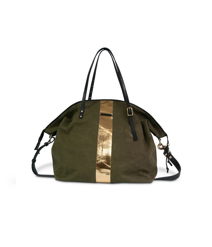 Army Gold Stripe Large Crossbody