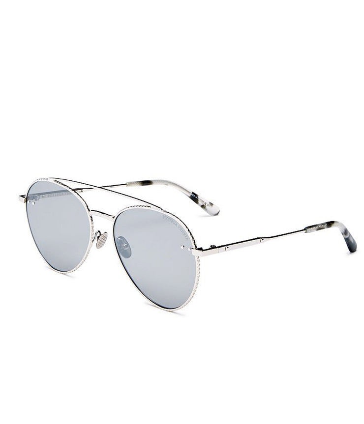 Rounded Aviator in Silver
