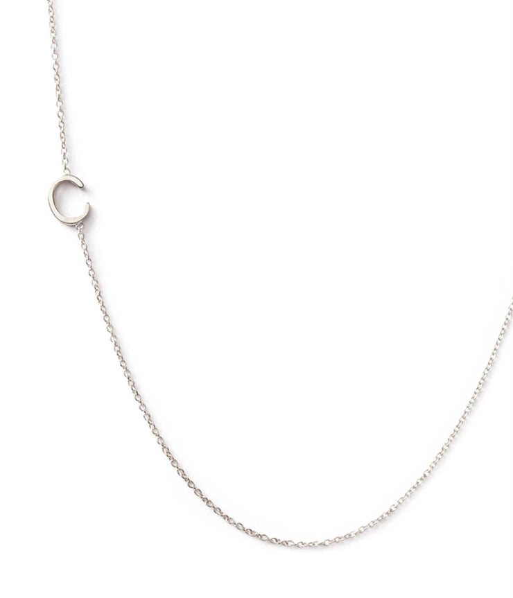 Maya Brenner Initial 14k White Gold Necklace
