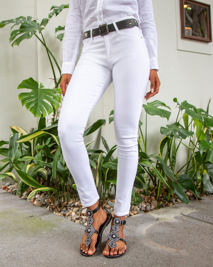 The Farrah Skinny in White Denim