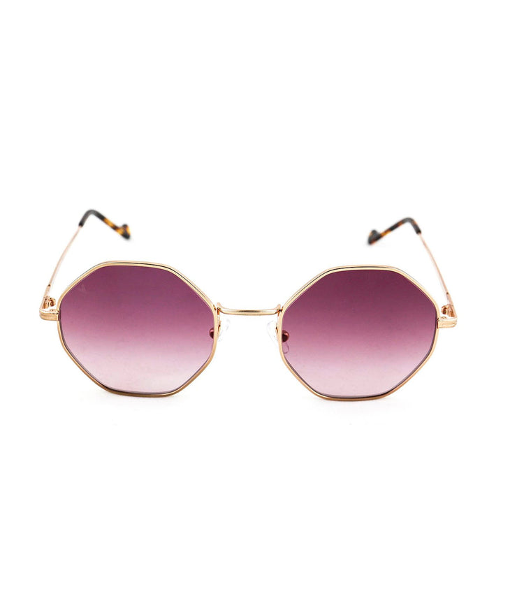 Cindy Sunglasses in Shiny Rose Gold