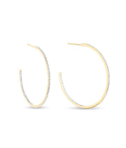 Large Pavé Hoops in 14K Yellow Gold