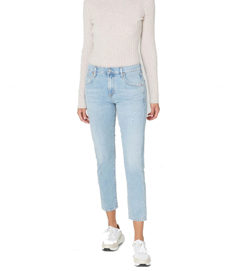 Elsa Mid Rise Slim Crop in Try Me