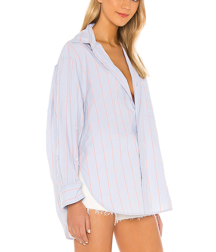 Kayla Shirt in Rosemont Stripe
