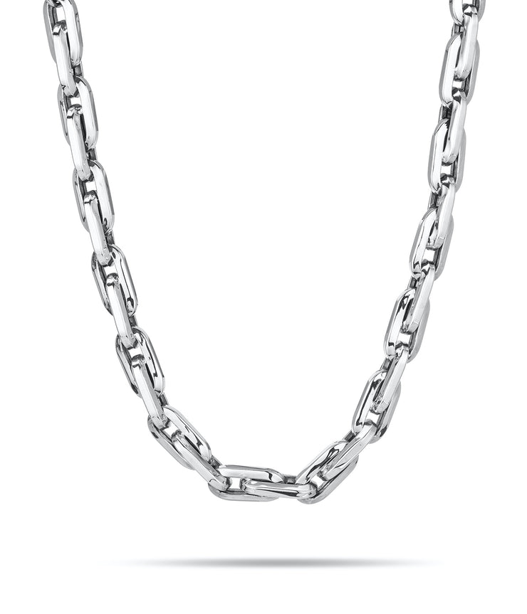Thick Cable Chain Necklace in Sterling Silver