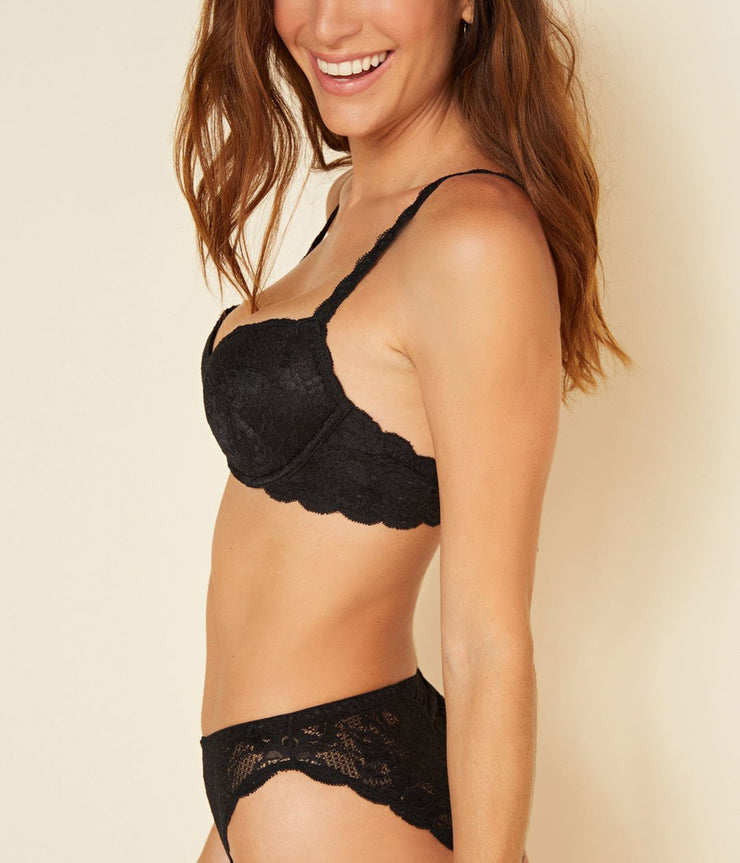 Luckie Push Up Bra in Black