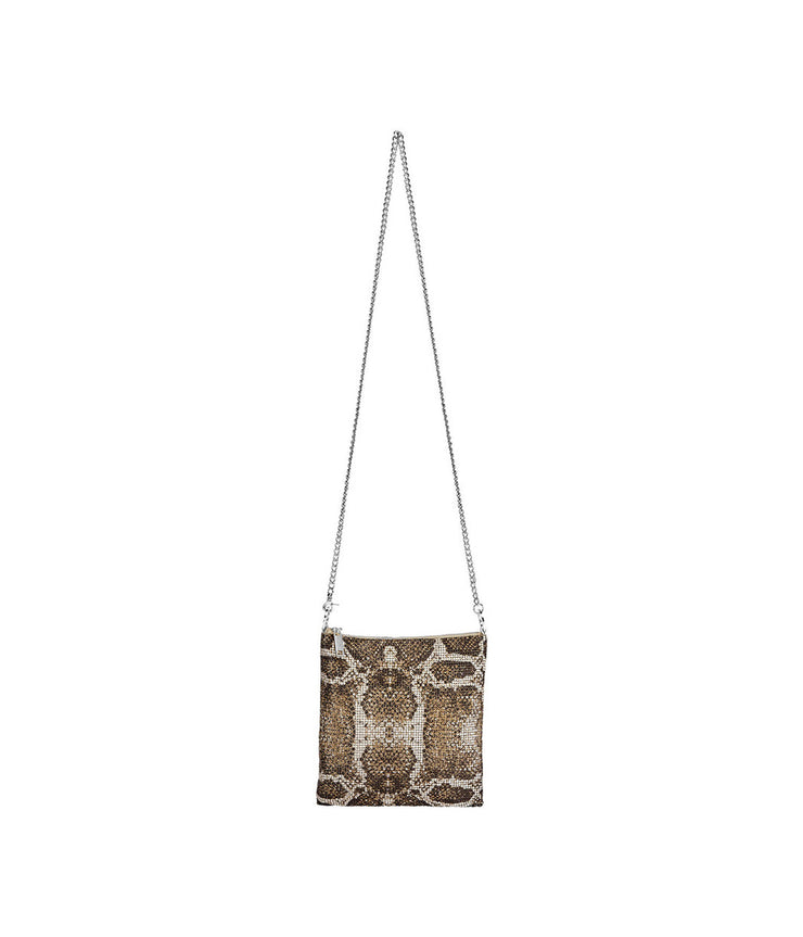 Pearl Python Convertible Crossbody in Brown
