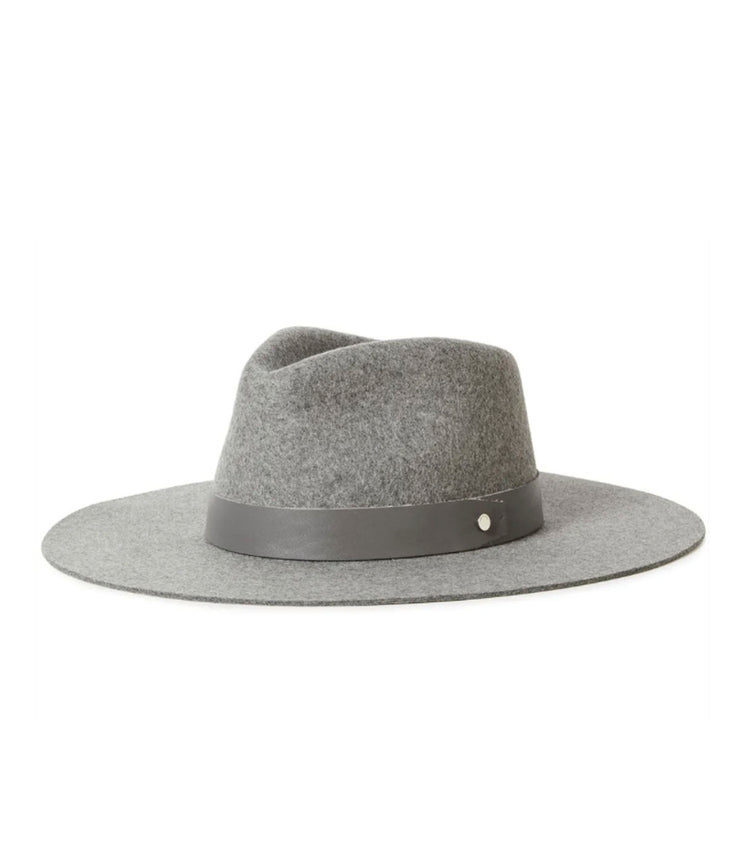 Kacy Fedora in Ice Grey