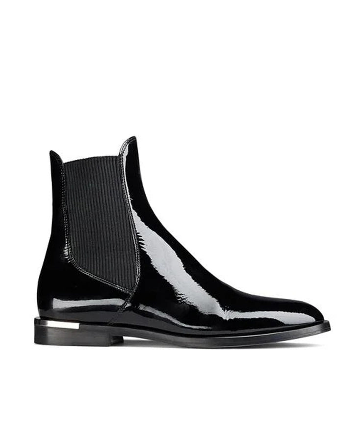 Rourke Flat Ankle Boots in Black