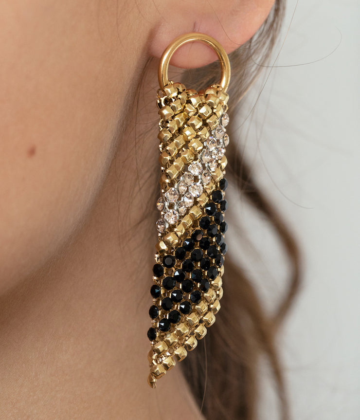 Sasha Earrings in Gold & Black