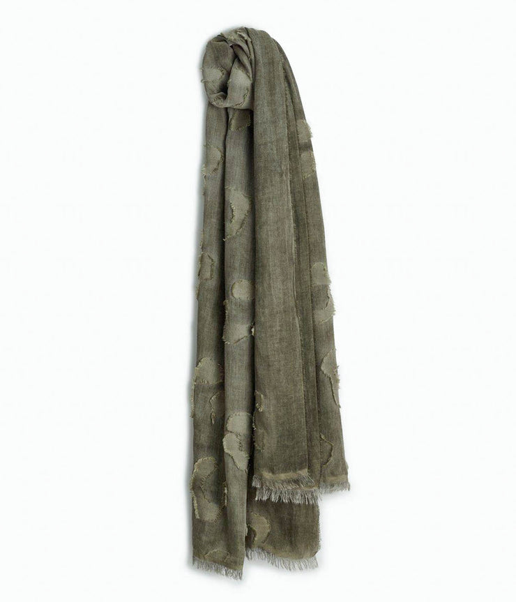 Abstract Cheetah Scarf in Olive