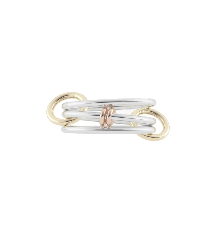 Acacia Linked Ring in Silver, Gold & Rose Gold