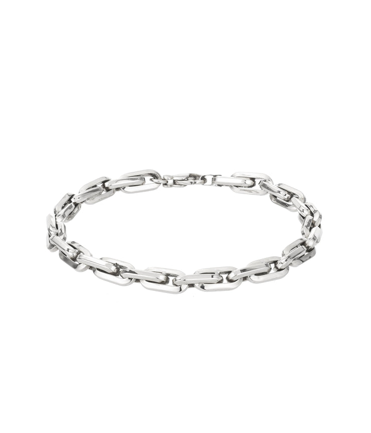 Thick Cable Chain Bracelet in Sterling Silver