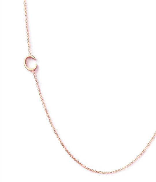 Maya Brenner Initial 14k Rose Gold Necklace Calexico
