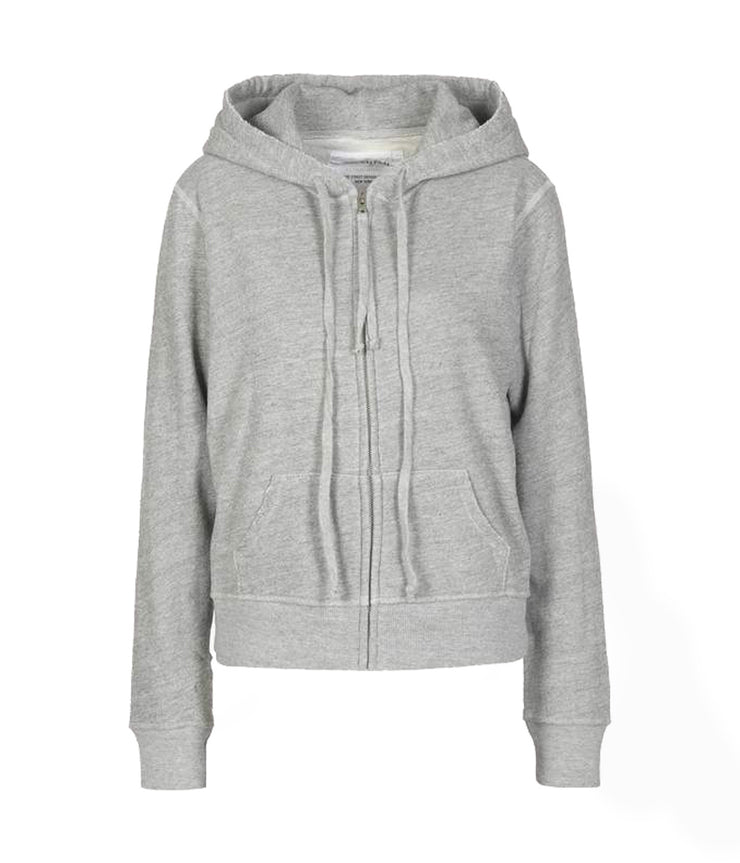 Callie Zip Up Hoodie in Heather Grey