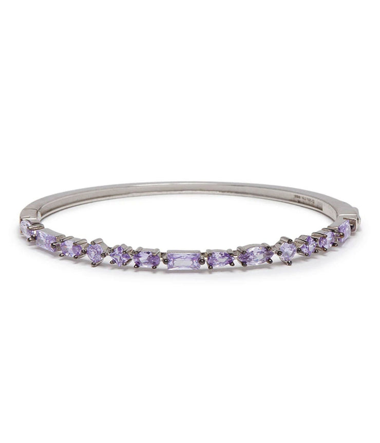 Cooper Bangle in White & Lavendar