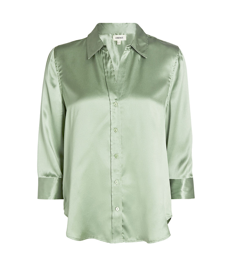Dani 3/4 Sleeve Blouse in Light Ivy