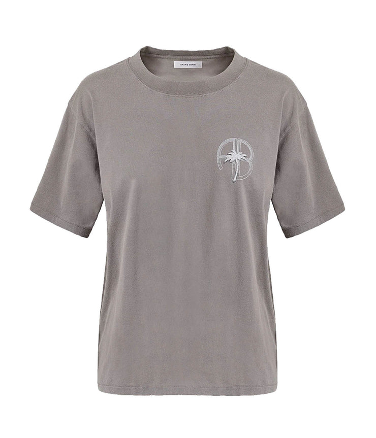 Ida Tee Palm in Washed Grey