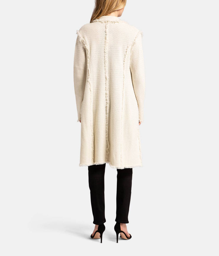 Coco Cashmere White Coat