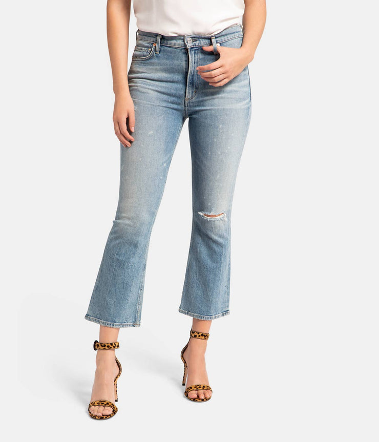 Demy Cropped Flare Jeans in Stargazer