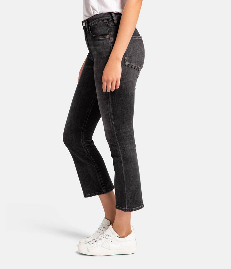 Demy Cropped Flare Vintage Grey Jeans