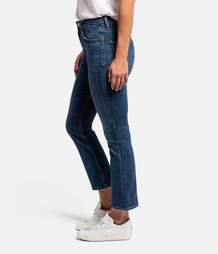 Demy Cropped Flare Jeans in Clearwater