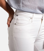 Harlow Ankle High Rise White Jeans in Sea Salt