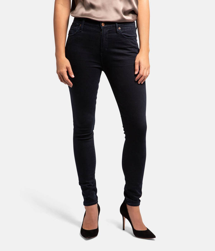 Rocket High Rise Skinny Black Jeans in Inkwell