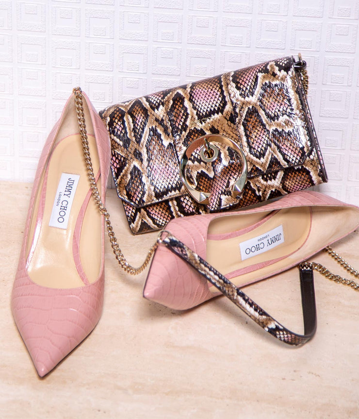 Love 85 in Blush Pink Crocodile Print