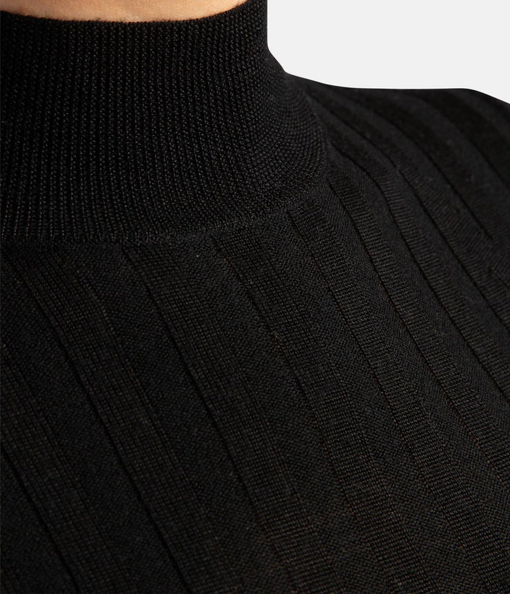 June Black Wool Skivvy Sweater