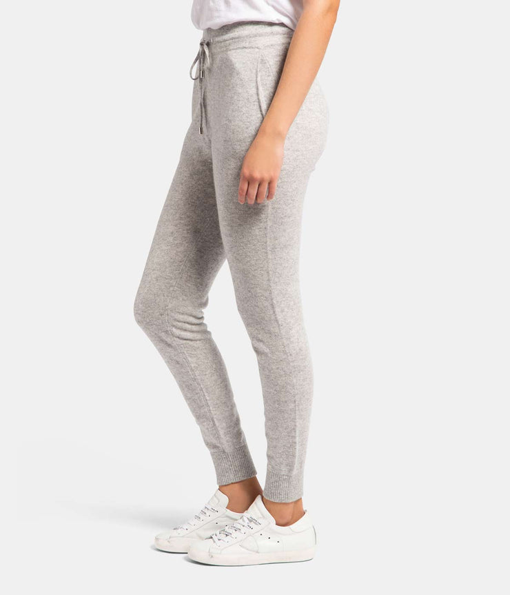 Grey Cashmere Jogger Track Pants