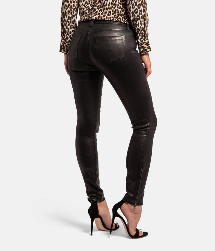 Leather Slim Black Pants