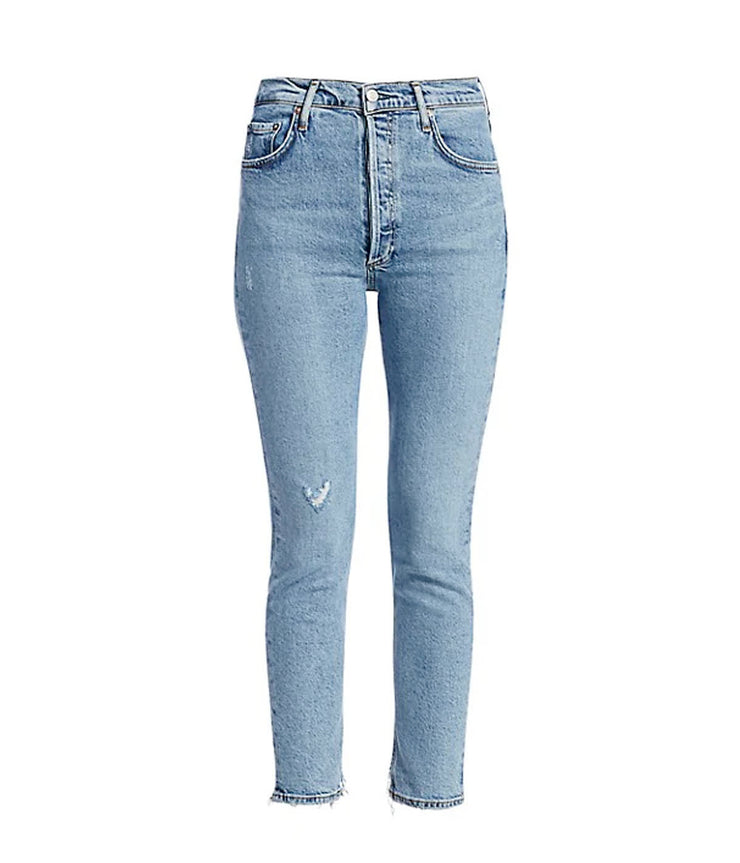 Nico High Rise Slim Fit Jeans in Headlines