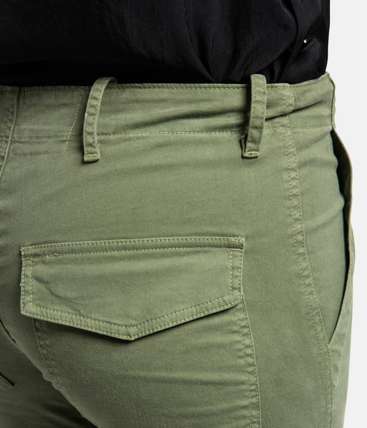Cropped Military Camo Green Pants