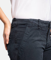 Cropped Military Navy Pants
