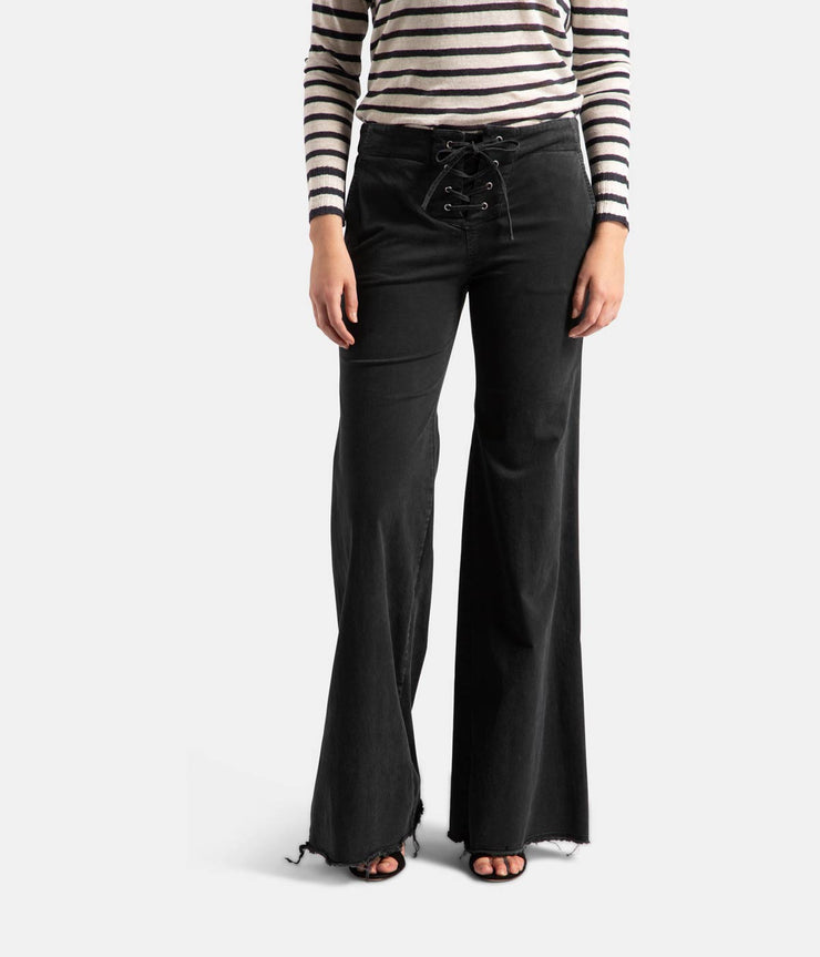 Lennon Carbon Dark Grey Flare Pants