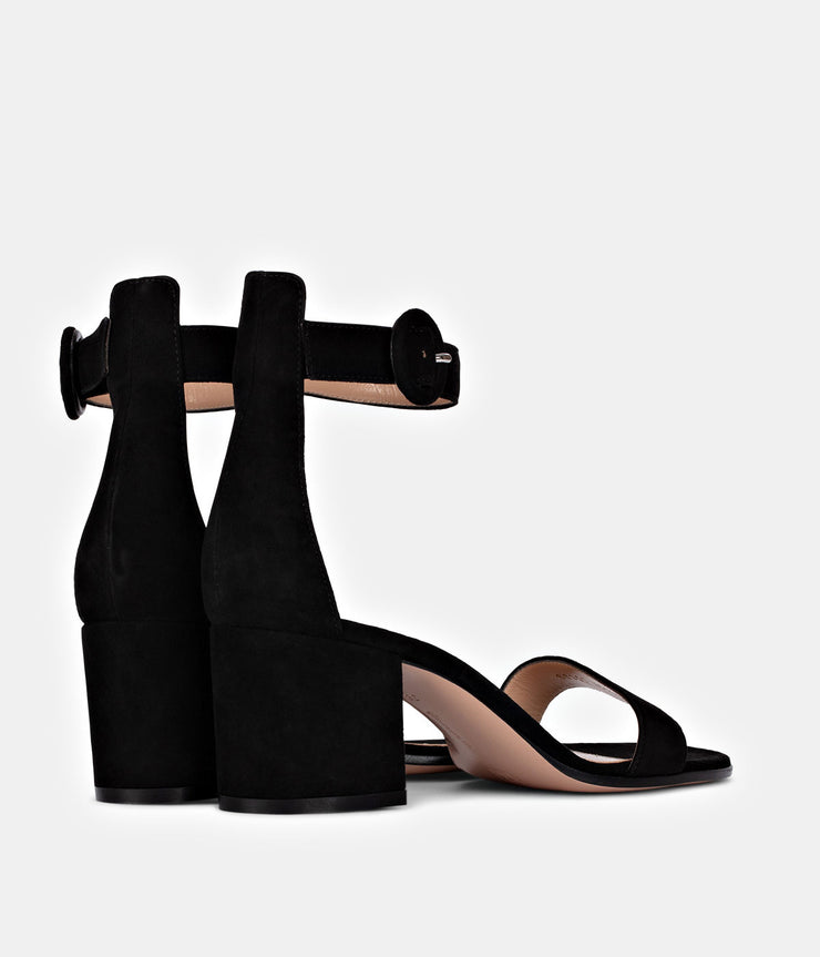 Versilia 60 Suede Black Sandals