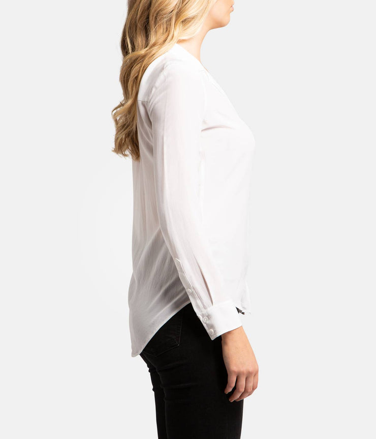 Adalyn White Silk Shirt