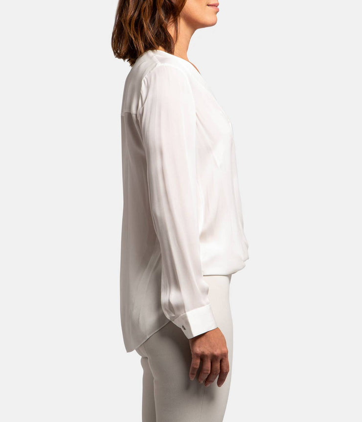 Ivory Silk Kyla Draped Blouse