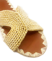 Zinia Raffia Sandal in Natural