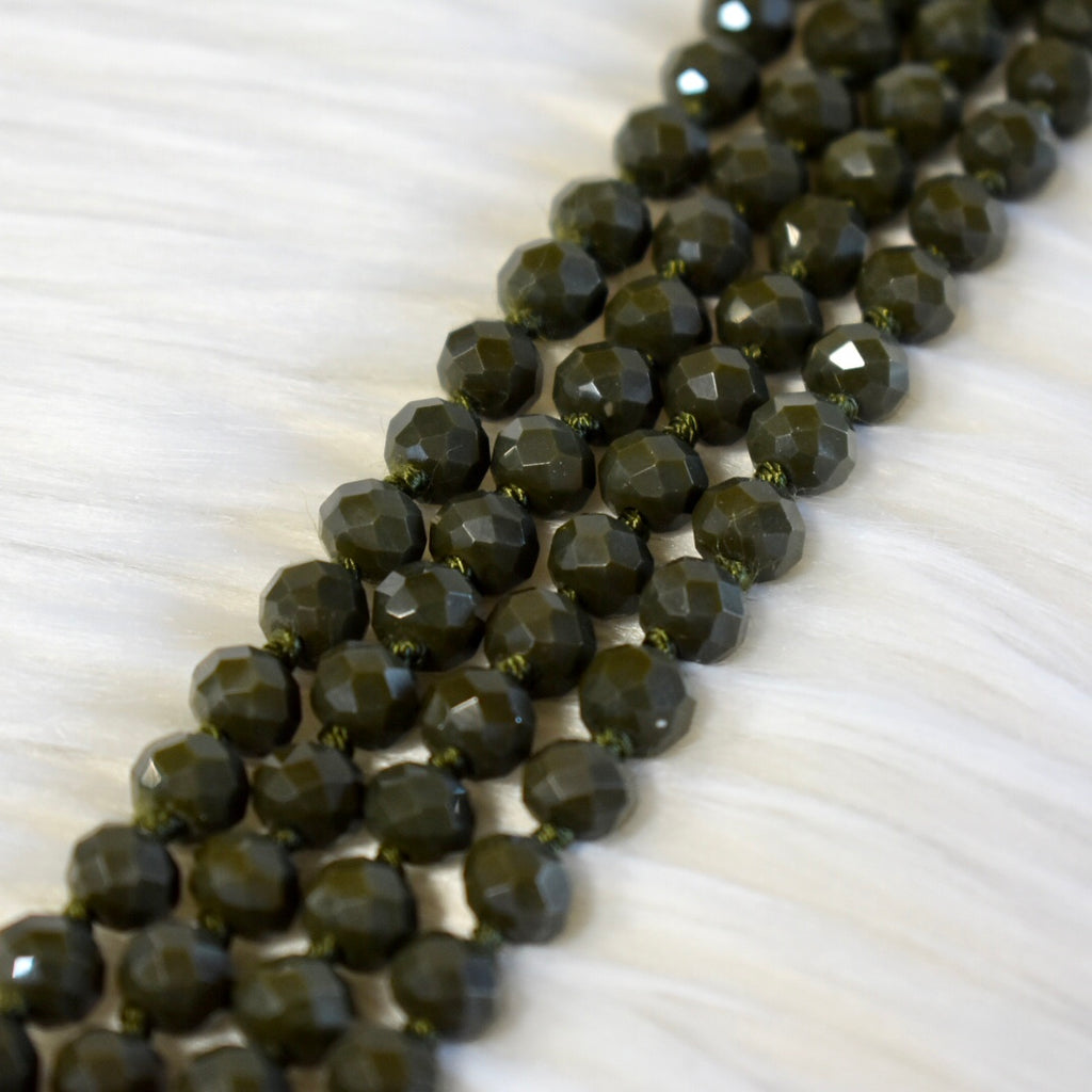 "60"" Crystal Bead Necklace"