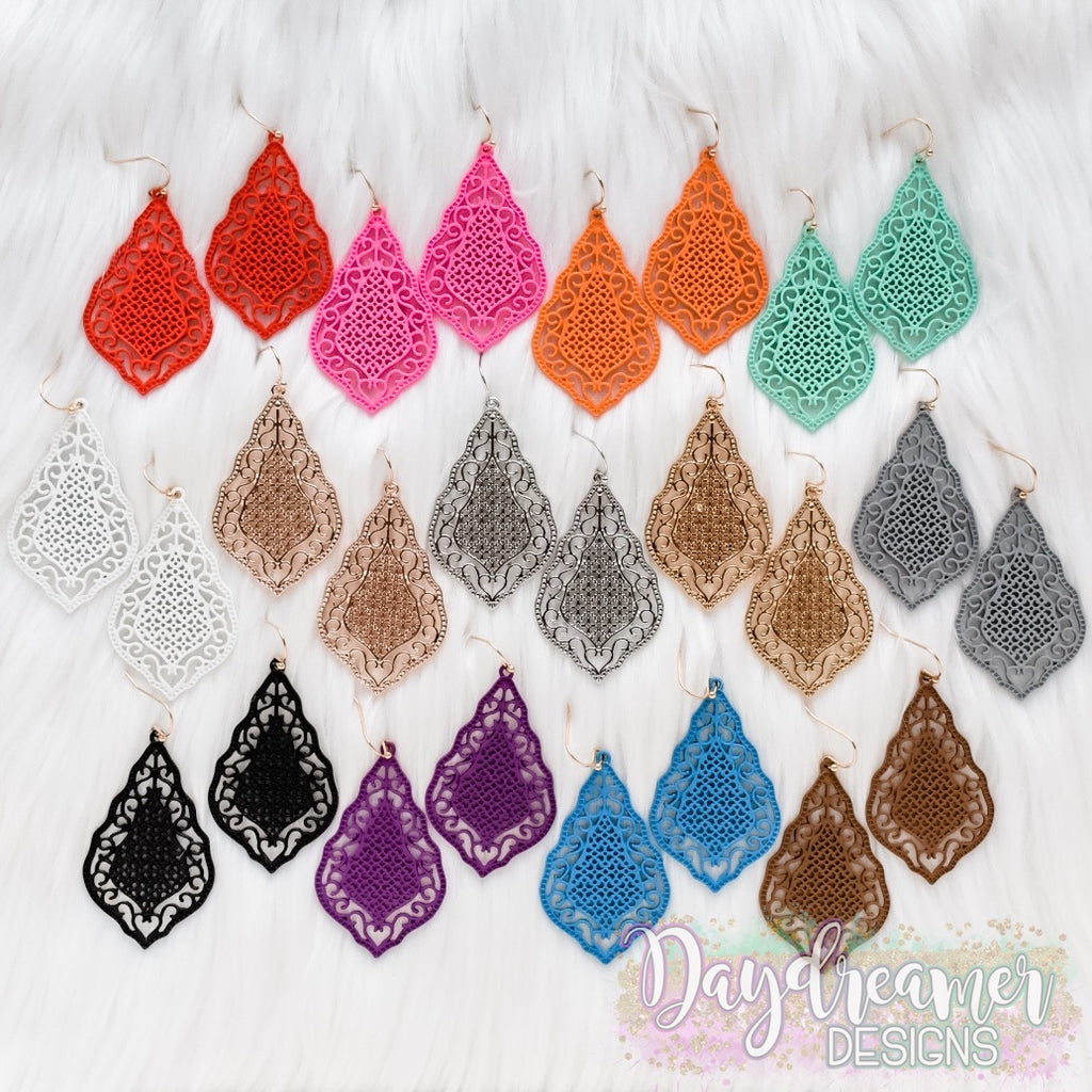 Filigree Teardrop Dangles