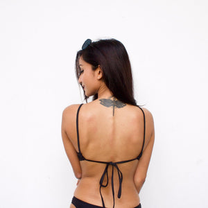 Minimalist Halter Lace Up Bikini
